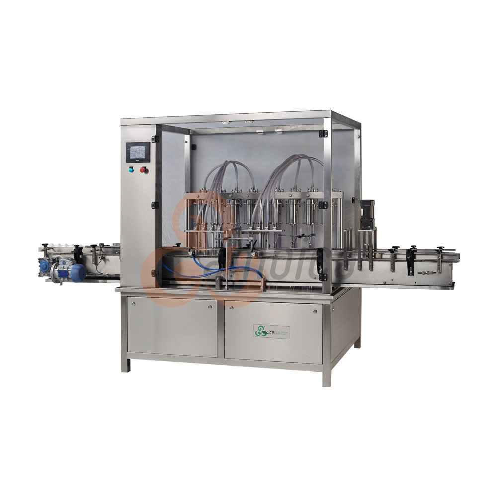 Automatic High Speed Servo Driven Linear Bottle Liquid Filling Machines