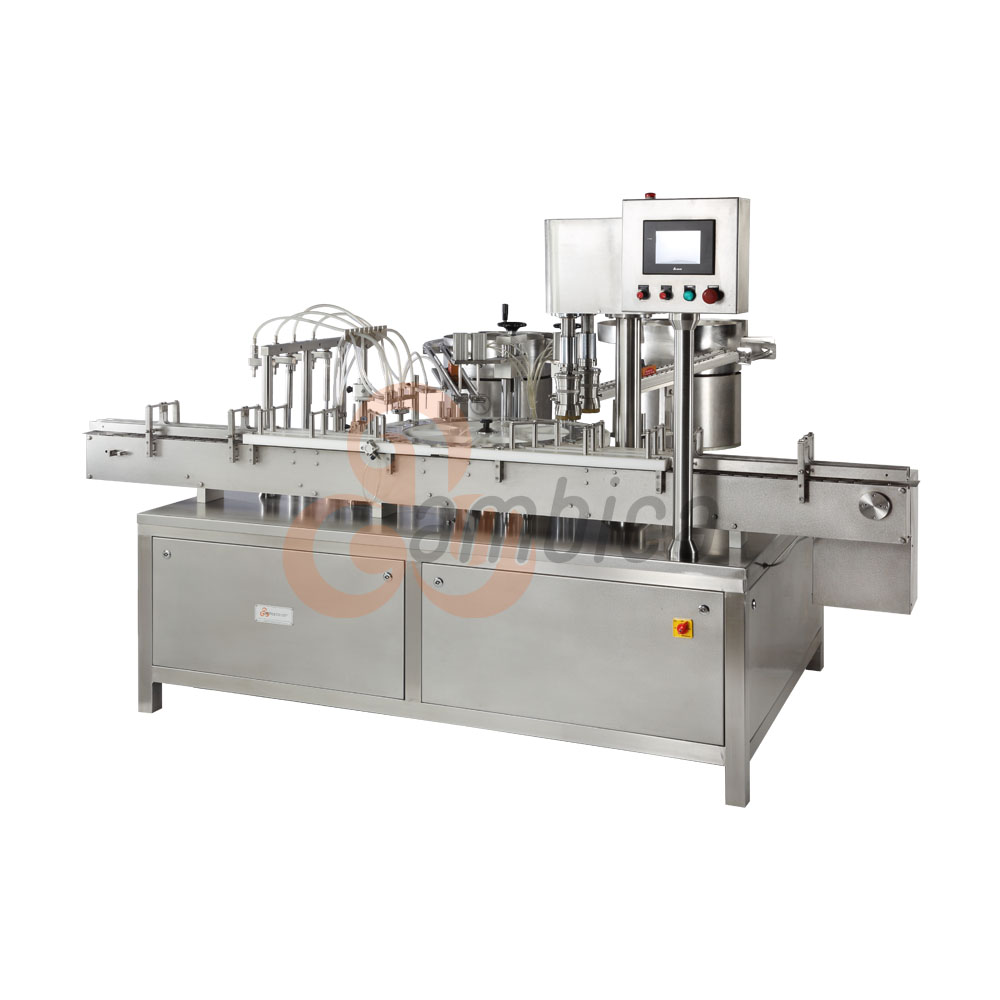 Automatic Multi-Axis Servo Driven Filling, Plugging and Capping Machine for Eye and Ear Drops Containers