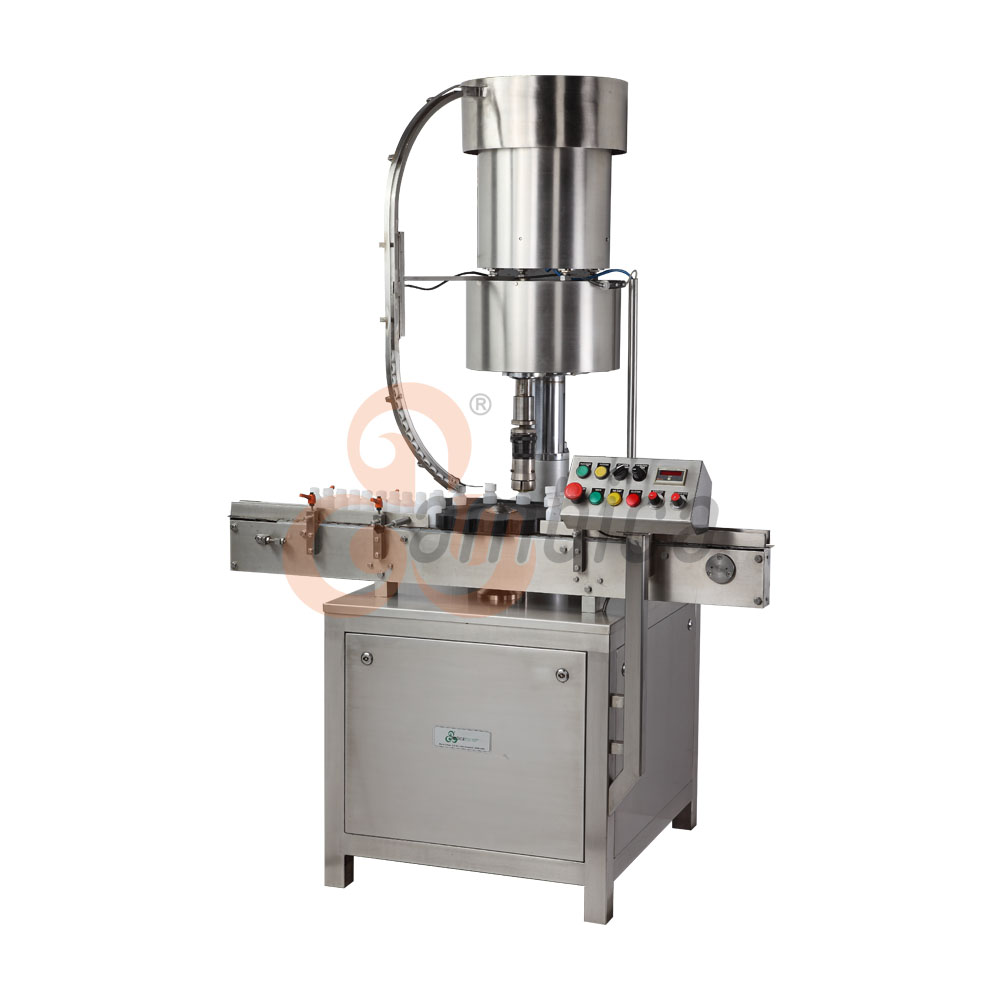 Automatic Servo Driven Torque Based Pick and Place Type Screw Cap Sealing Machine
