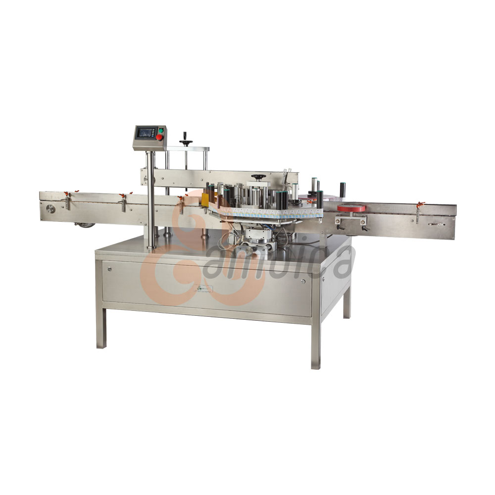 Automatic Double Side Self-Adhesive (Sticker) Labelling Machines for Flat Containers