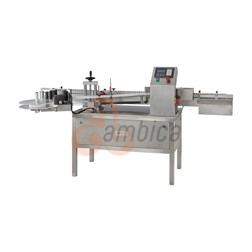 Automatic High Speed Self Adhesive (Sticker) Labelling Machines for Round Containers