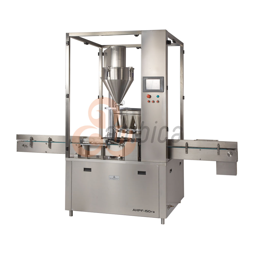 Automatic High Speed 16 Heads Continuous Motion Rotary Auger Dry Syrup Powder Filling Machine
