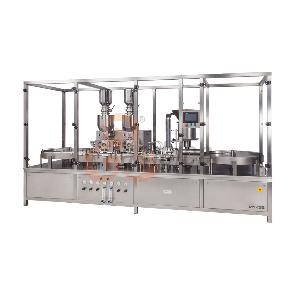 Automatic High Speed Injectable Dry Powder Filling with Servo Driven Pick and Place Type Rubber Stoppering Machine