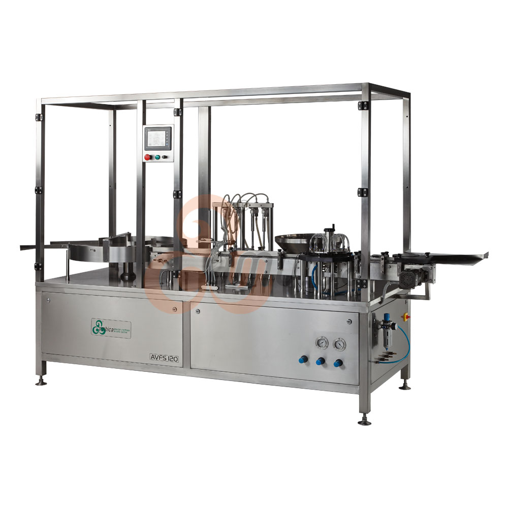 Automatic High Speed Servo Driven Linear Vial Injectable Liquid Filling with Rubber Stoppering Machines