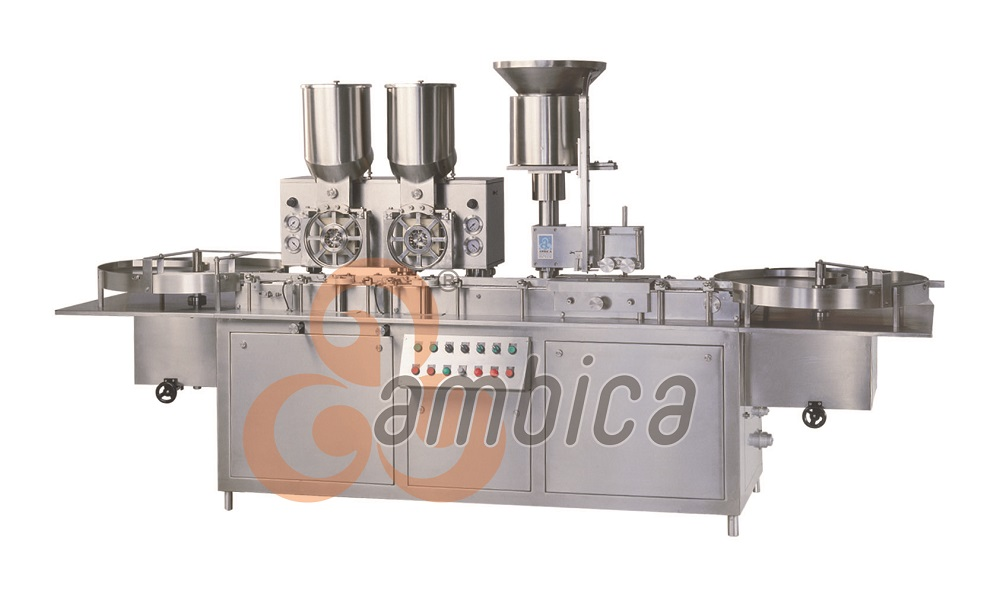 Automatic High Speed Injectable Dry Powder Filling with Rubber Stoppering Machine