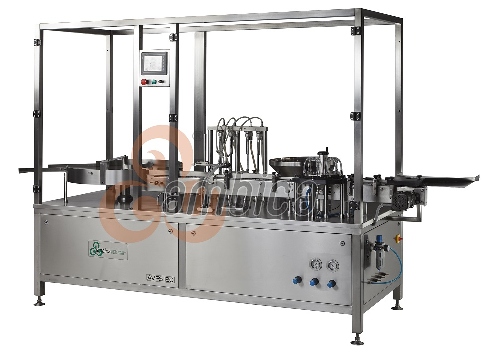 Automatic High Speed Servo Driven Linear Vial Injectable Liquid Filling with Vacuum Based Rubber Stoppering Machines  Advanced Version